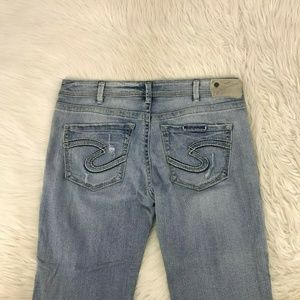 Silver Jeans Sam Boyfriend Sz 33 X 28 inseam 18-11